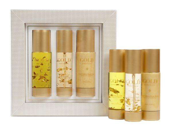 Gold oil, wash & toner gift set